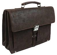 Чоловічий шкіряний діловий портфель A-art TSM1401-2 коричневий, фото 1