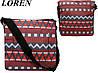 Сумка почтальонка Loren TN-1029 2725 разноцветная