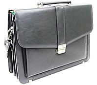 Мужской портфель из эко кожи AMO Польша SST11 серый