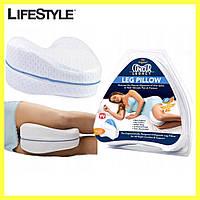 Ортопедична подушка для ніг і колін анатомічна з ефектом пам'яті Contour Legacy Leg Pillow