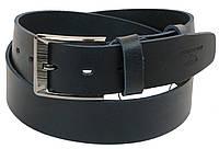 Кожаный мужской ремень под джинсы Skipper 110-130 x 4.5 см Темно-синий (1178-45)