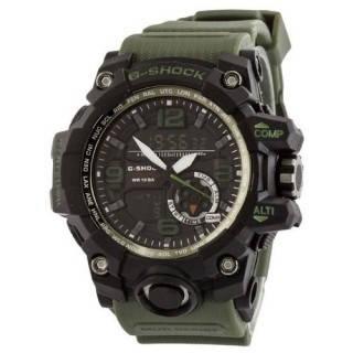Часы мужские наручные кварцевые электронные Casio G-Shock GG-1000 Black-Militari Wristband
