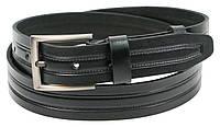 Мужской кожаный ремень под джинсы Skipper 1296-38