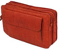 Мужская кожаная барсетка, клатч Always Wild 1265BS рыжая, фото 1