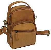 Небольшая кожаная сумка Always Wild LB06СH рыжий, фото 1