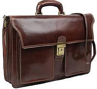 Портфель мужской кожаный Tomskor коричневый, фото 1