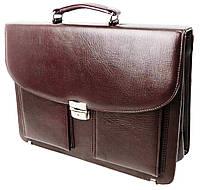 Портфель деловойиз эко кожи Exclusive 722900 бордовый