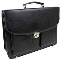 Мужской деловой портфельиз эко кожи Exclusive 722900 черный