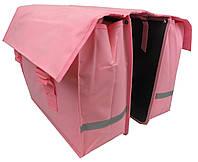 Велосумка на багажник, велоштаны 40 L Сrivit S061789 розовый, фото 1