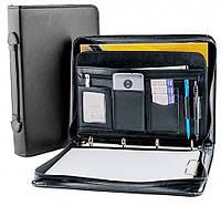 Папка для документов из кожзаменителя AMO SSBW01 чёрная, фото 1