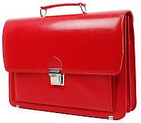 Деловой женский портфель из эко кожи AMO SST09 красный, фото 1