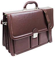 Большой женский портфель из эко кожи AMO SST03 бордовый, фото 1