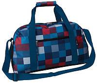 Спортивная сумка для фитнеса в клетку 23L Corvet