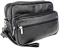 Кожаная мужская сумка-барсетка 61918 Kamil-1 черная, фото 1