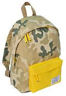 Рюкзак міський Paso CM-222E камуфляж/жовтий 15 л, фото 1