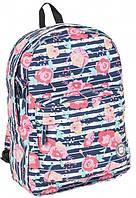 Рюкзак молодіжний з квітами 13L Paso 17-780P, фото 1