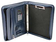 Ділова папка з еко шкіри з калькулятором AMO SSBW02 синій, фото 1