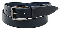 Мужской кожаный ремень под джинсы Skipper 1273-38 синий 3,8 см