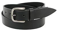 Мужской кожаный ремень под джинсы Skipper 1269-38 черный 3,8 см