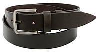 Мужской кожаный ремень под джинсы Skipper 1268-38 коричневый 3,8 см