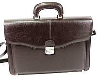 Мужской портфель из кожзаменителя JPB TE-34 коричневый