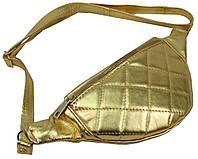 Женская поясная сумка из эко кожи Always Wild золотистая