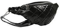 Поясная женская сумка из эко кожи Always Wild черная