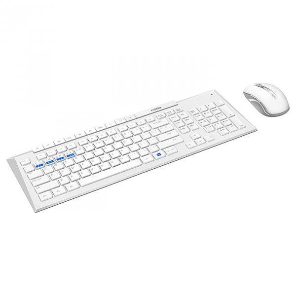 Комплект (клавіатура + миша) Rapoo 8200M White