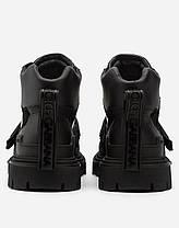 "Черевики Dolce & Gabbana Mixed material trekking shoes with logo ""Чорні"", фото 3"