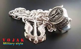 Перстень серебряный Морская Пехота