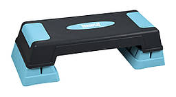 Cтеп-платформа PowerPlay 4329 (3 уровня 12-17-22 см) Черно-голубая