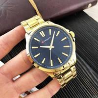 Часы мужские наручные кварцевые металлические Curren 8322 Gold-Blue