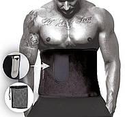 Пояс для похудения PowerPlay 4301 (100 * 30) Черный + карман для смартфона