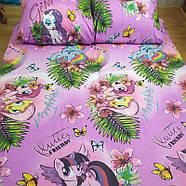 """Полуторный комплект (Бязь)   Постельное белье от производителя """"Королева Ночи""""   My Little Pony на фиолетовом, фото 2"""