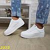 Кросівки білі на високій масивній підошві, фото 7