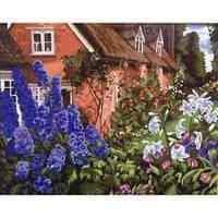 Холст-розмальовка по номерам Сад біля будинка 40*50