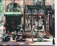 Холст-розмальовка по номерам 40*50 Дівчина з коляскою