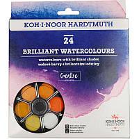 Набір акварельних фарби 24 кол сухі Діамантові відтінки, K-I-N
