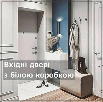 Входные двери с белой коробкой