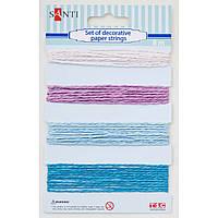 Набір шнурів паперових декор рожево-блакитний 4 кольори 8 м/уп Santi