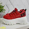 Кросівки на високій платформі червоні, фото 8