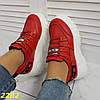 Кросівки на високій платформі червоні, фото 7