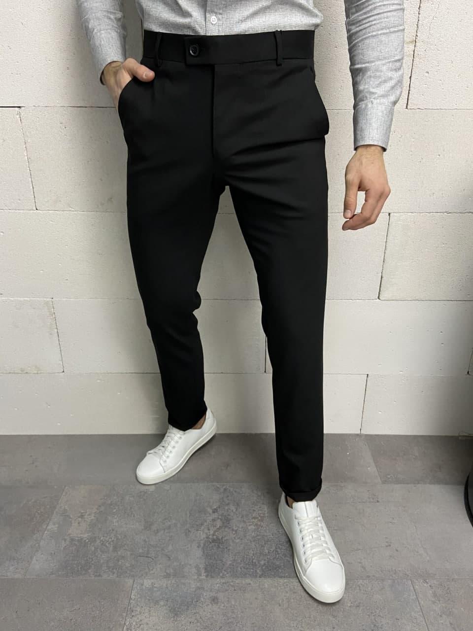 Мужские классические брюки черные