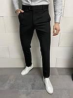Мужские классические брюки черные, фото 1