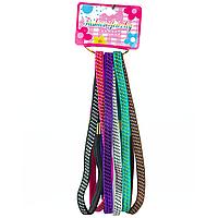 Набір резинок для плетіння волосся 6 шт, колір в асортименті