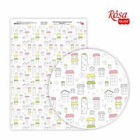 Папір дизайнерський односторонній Sweet Girl-1 21х29,7 см глянцевий 250 г/м2 ROSA TALENT