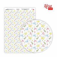 Папір дизайнерський односторонній Sweet Girl-3 21х29,7 см глянцевий 250 г/м2 ROSA TALENT