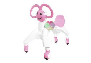 Ходунки - беговел чотириколісний з вушками-ручками BABY WALKER Smile каталка для малюків Рожевий