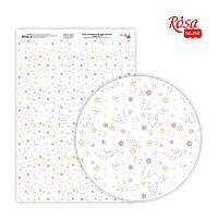Папір дизайнерський односторонній Sweet Girl-5 21х29,7 см глянцевий 250 г/м2 ROSA TALENT