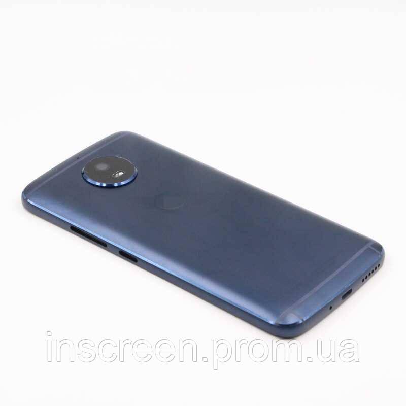 Задня кришка Motorola XT1794 Moto G5S, XT1792, TX1799-2, синя, Оригінал Китай скло камери, фото 2